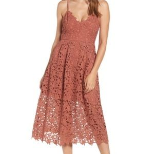 ✨NWT Astr The Label Laci Midi Dress Coral Cedar